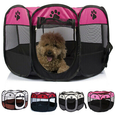 £15.95 • Buy Portable Large Fabric Kennel Dog Puppy Cat Crate Cage Travel Carrier Tent Pop Up