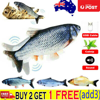 AU11.59 • Buy Electric Dancing Fish Kicker Cat Toy Wagging Realistic Moves USB Rechargeable AU