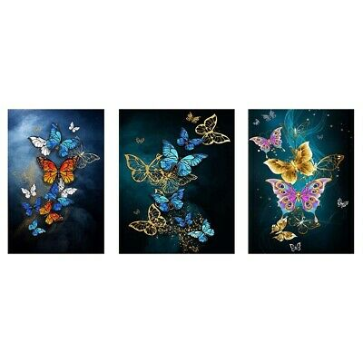 AU13.99 • Buy Butterfly 5D DIY Full Round Drill Diamond Painting Digital Colorful Drawing Sets