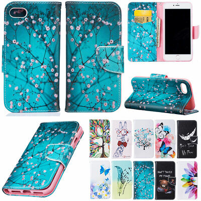 AU12.36 • Buy For Apple IPhone 6s 7 8 Plus Flip Leather Wallet Magnetic Phone Case Full Cover
