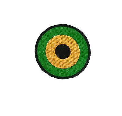 Patch Embroidered Aviation Flag Army Airforce Jamaica Roundel Rasta • 2.60£