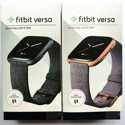 $ CDN95.70 • Buy Fitbit Versa Special Edition FB505 Smart Watch Bluetooth GPS Activity Fitness