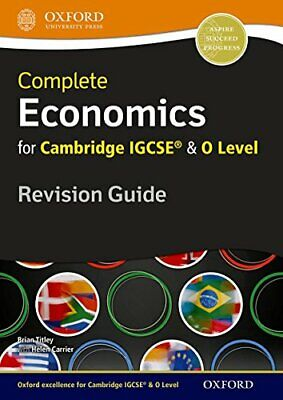 Complete Economics For Cambridge IGCSE® And O Level Revi New Paperback Book • 24.43£