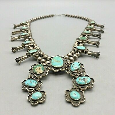 $ CDN1262.36 • Buy Vintage Traditional Navajo Style Squash Blossom Necklace