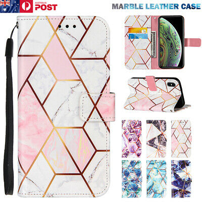 AU13.99 • Buy For IPhone 12 11 Pro XS Max XR SE/8/7 Plus Case Marble Leather Filp Wallet Cover