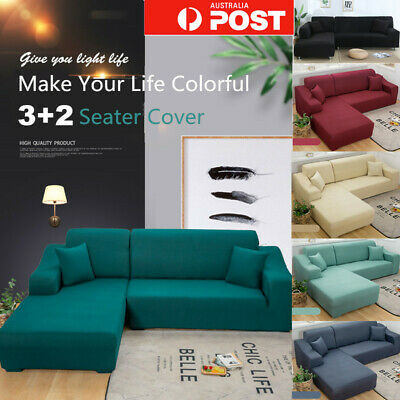 AU49.99 • Buy 2+ 3 Seater Stretch Sofa Couch L Lounge Shape Cover Washable Protector Slipcover