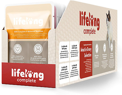 Lifelong Complete Food For Adult Cats Meat In Gravy Selection, 24 X 100g • 9.99£