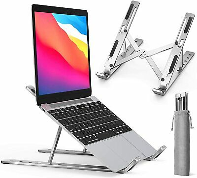 Portable Adjustable Laptop Stand Folding Tablet Holder IPad Office Support Tool • 5.89£