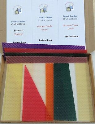 £14.99 • Buy Beeswax Candle Making Kit: Variety Pack - 6 Candles (See Item Description)