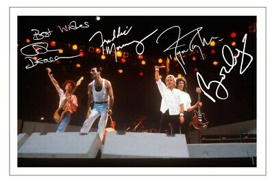£1.89 • Buy QUEEN Fully Signed Autograph 6x4 PHOTO Signature Print Music Freddie Mercury
