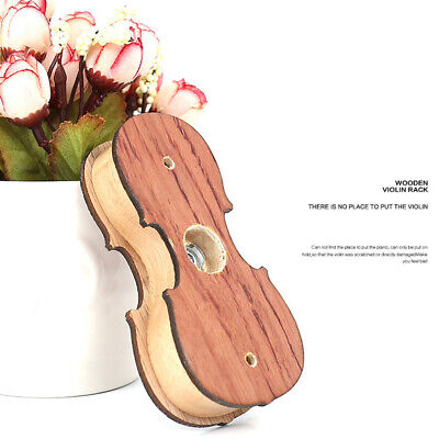 AU17.36 • Buy Hanger Mount Rack Violin Part Ukulele Stand Wooden Wall Hook Delicate Protective