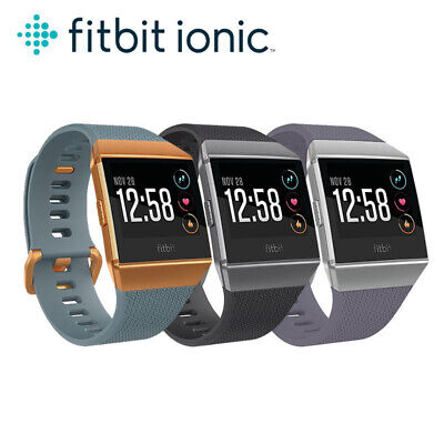 $ CDN124.51 • Buy Fitbit Ionic Fitness Smart Watch FB503 Bluetooth GPS Activity Tracker S&L Bands