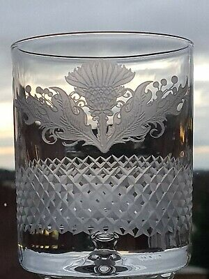 £20 • Buy  Thistle Design Bubble Base 10 Oz Whisky Glass (Frosted Finish)