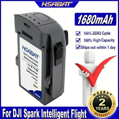 AU224.60 • Buy HSABAT Spark Drone 1pc 1680mAh Intelligent Charging Battery For DJI Spark Drone
