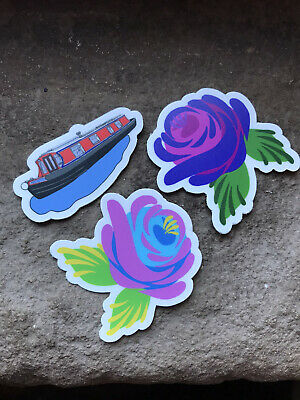 £4 • Buy Canal Boat Art Roses And Barge Stickers