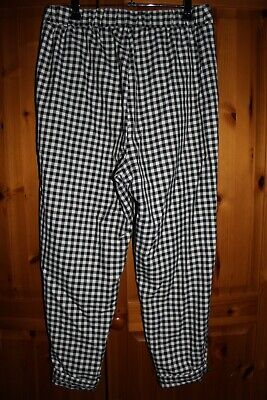 Cooperative Urban Outfitters Gingham Capri Trousers 1950's Marilyn Monroe M • 9£