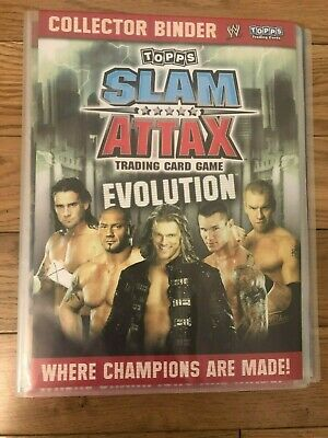 WWE Slam Attax Evolution Complete Binder Set 186 Cards + Poster + 4 LTD + 4 BIG  • 125£