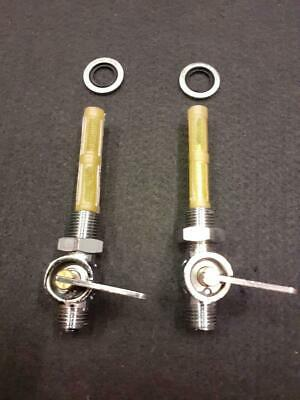 £28 • Buy Classic Motorcycle Chrome Fuel Taps Main & Reserve 1/4 Bsp With Tank Seals