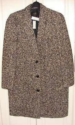 AU193.89 • Buy NWT J Crew Collection Size 8 Black Natural Wool Blend Boucle Topcoat #B6001