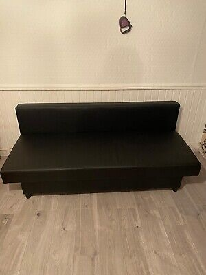 BARGAIN MUST GO IKEA Asarum Sofabed 3 Seater Leather Sofa Bed 2 Available • 150£