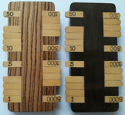 Antique Playing Cards Goodall Large Wood Bezique Score Registers X2 Approx 1895 • 18£