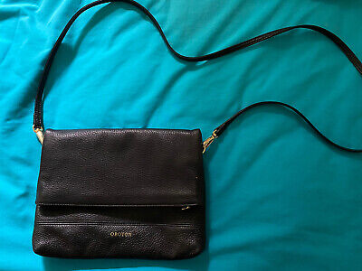 AU99 • Buy Oroton Black Bueno Leather Crossbody Bag Handbag