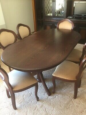AU140 • Buy Oval Dining Table With 6 Chairs