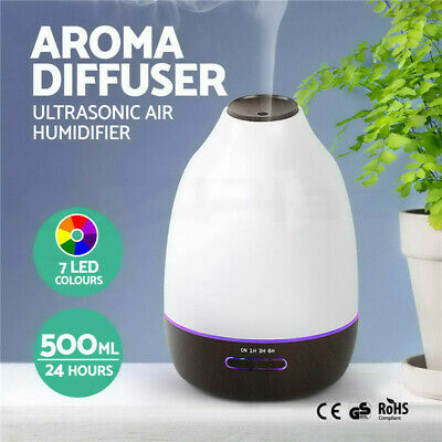 AU16.98 • Buy 500ML LED Aroma Aromatherapy Diffuser Oil Ultrasonic Air Humidifier Purifier