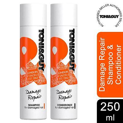 £8.99 • Buy Toni&Guy Damage Repair Bundle Of Shampoo Or Conditioner For Damaged Hair, 250ml
