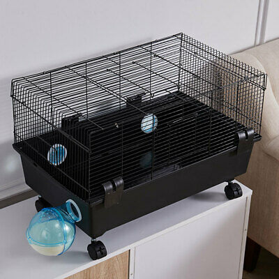 Large Hamster Cage With Wheels Small Rodent Pet Mouse Habitat Box Travel Cage UK • 30.95£
