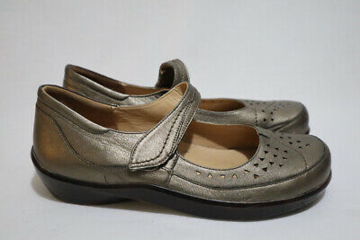 AU90 • Buy ZIERA Size 10 Womens Leather Removable Arch Support Platform Mary Janes RRP $230
