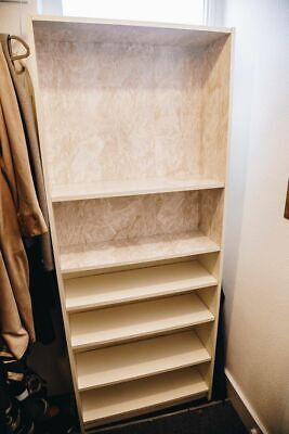 IKEA Billy WIDE Bookcase Rare Customised Gold Marble Design • 40£