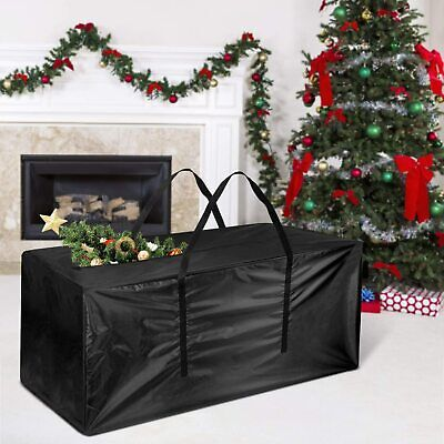 CHRISTMAS TREE DECORATION LIGHTS ZIP UP SACK STORAGE BAG FOR UPTO 7FT XMAS TREES