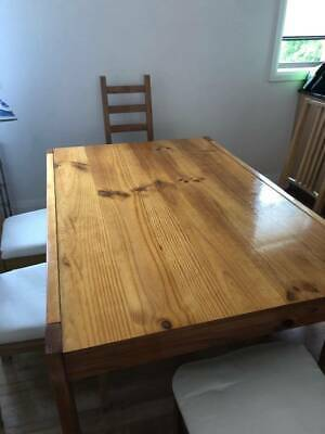 AU175 • Buy Oak Dinning Table With 6 Chairs