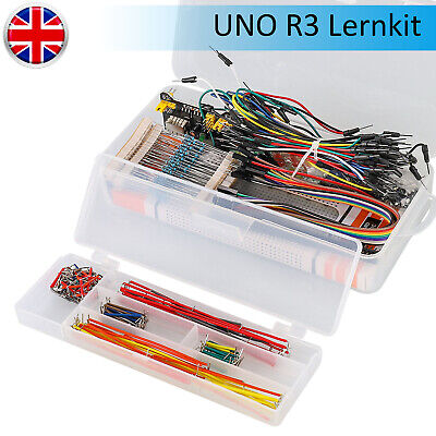 Electronics Starter Kit For Arduino UNO R3 Breadboard LED Jumper Wire Cable UK • 12.19£