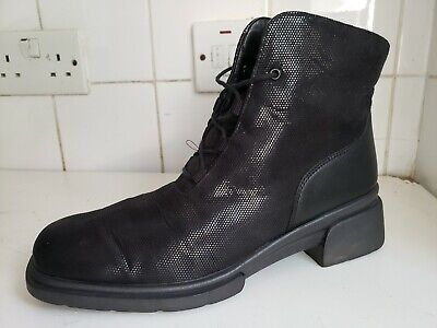 £19.99 • Buy Rohde Designer Uk 6 Eu 39 Womens Flat Black Faux Leather/ Fabric Ankle Boots