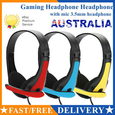 AU14.99 • Buy 3.5mm Surround Stereo Pro Gaming Headset Headphone With Mic AU 2020