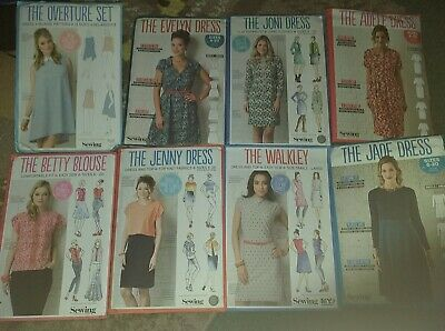 Simply Sew Dressmaking Patterns Lot 8 UNCUT Ladies  Summer Dresses Blouses Tops  • 24£
