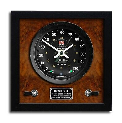 Rover P4 110 Classic Speedometer Wall Clock Perfect Gift Handmade • 45£