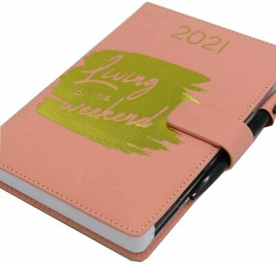 £3.99 • Buy 2021 A5 Premium Fashion Personal Organiser Diary With Pen(Living For The Weekend