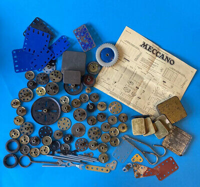 Vintage Meccano Oddments Pulleys Spring Spanners Rods Tins 1961 Price List • 10£