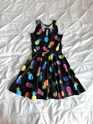 Tikiboo Womannblack Stretchy Pineapple Dress Size S  • 34.99£