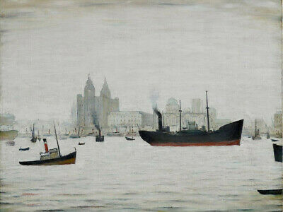 £19.99 • Buy Ls Lowry Liver Building Canvas 20x30 Inches Wall Art Framed