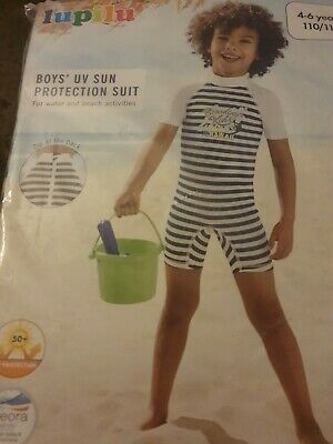 Boys Uv Sun Protection Set Shorts And Top 50+ 4-6 Years • 8.99£