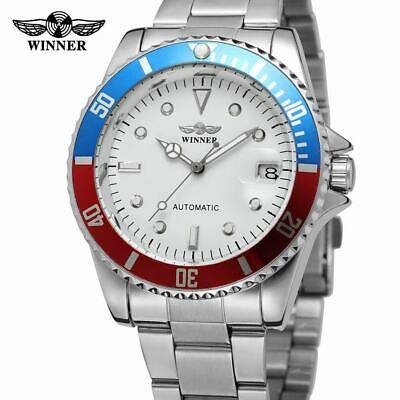 £17.69 • Buy WINNER Men Watches Automatic Mechanical Stainless Steel Strap Casual Wristwatch