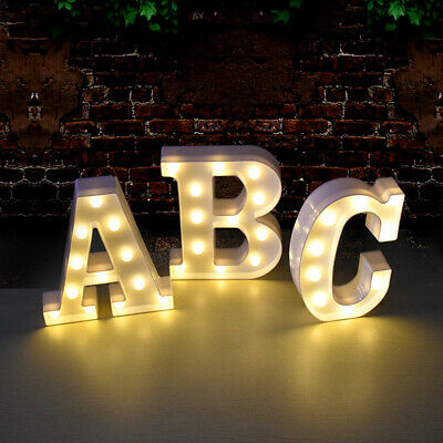 £6.99 • Buy A-Z LED Large Letter 0-9 Number Night Light Sign UP Birthday Party Wedding Decor