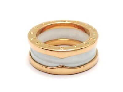 AU1163.32 • Buy BVLGARI Ring B-zero1 White Ceramic # 49 K18 Pink/Rose Gold