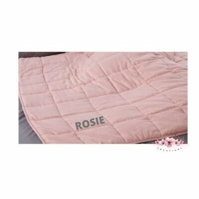 Weighted Blanket Personalised, Pink, Various Sizes Available • 35.95£