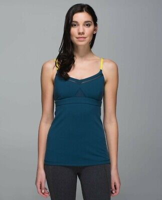 $ CDN35 • Buy Lululemon Just Breathe Tank In Alberta Lake/Split Pea Size 6
