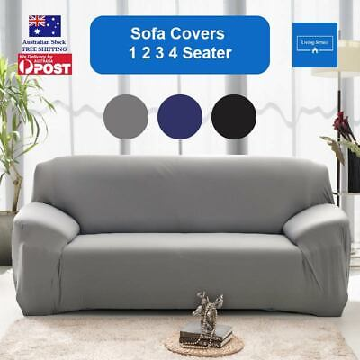 AU24.99 • Buy Sofa Cover Couch Covers 1 2 3 Seater Lounge Slipcover Protector Stretch AU Stock